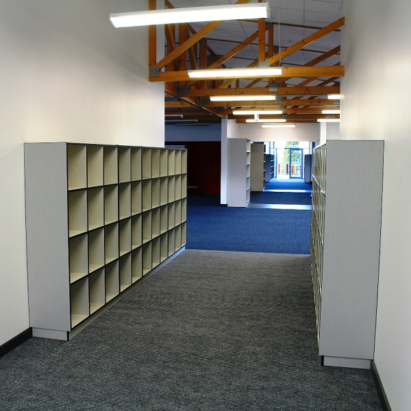 Bag storage in the Ellerslie Primary School